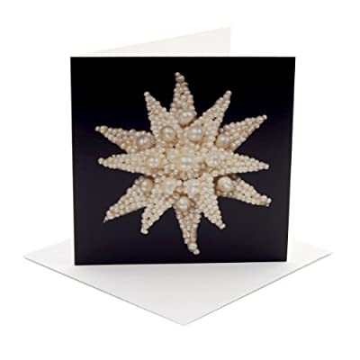 V&A Christmas Cards - Pearl Star (Pack of 10, Square)||RF20F||EVAEX
