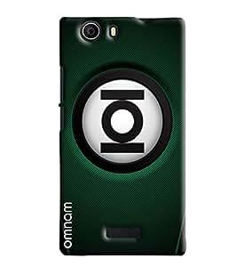 Omnam Ioi Ball With Green Base Printed Designer Back Cover Case For Micromax Nitro 2 E311