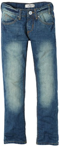 TOM TAILOR Kids Jungen Jeans dusty street denim tom/401, Einfarbig, Gr. 176, Blau (bleached blue denim + tint)