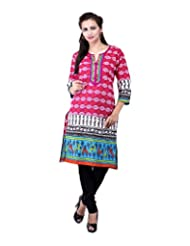 Rash Collection Women's Cotton Round Neck Kurti - B00X3TM5NA