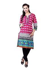 Rash Collection Women's Cotton Round Neck Kurti - B00X3TM5NA