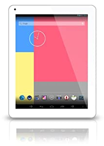 "Latte iMuz Q9 Android 4.2 9.7"" XHD IPS screen quad core tablet. Dual Cameras, 2GB RAM, Wifi - 16GB, White/Silver"