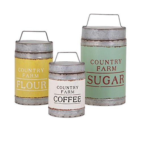 IMAX 88665-3 Dairy Barn Decorative Lidded Containers - Set of Three 0