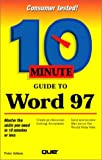 10 Minute Guide to Word 97 (0789710196) by Aitken, Peter G.