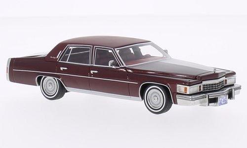 Cadillac Fleetwood Brougham, metallizzato-rosso-scuro/matt-rosso-scuro, 1978, modello di automobile, modello prefabbricato, BoS-Modelos 1:43 Modello esclusivamente Da Collezione