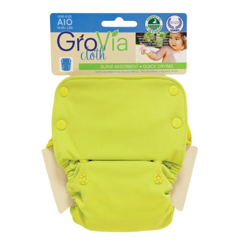 Grovia All In One Cloth Diaper - Snap - Citrus - One Size front-125583