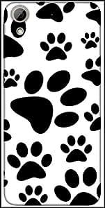 Snoogg Dog Stamps Designer Protective Back Case Cover For HTC Desire 626