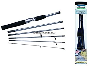 Shakespeare Medium Action Travel Mate Spinning Rod (6-Feet 6-Inch) by Shakespeare