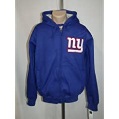 NEW YORK GIANTS Mens XL HOODED JACKET SWEATSHIRT NFL BLUE EMBROIDERED NWT! by NFL