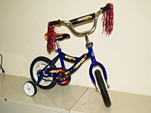 Children's Bicycle with Training Wheels (12-Inch Wheels) Blue