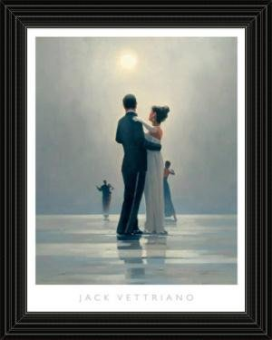 Black Framed Dance Me to the End of Love By Jack Vettriano Art Print