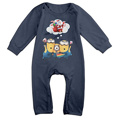 VanillaBubble Minions And Christmas For 6-24 Months Boys&Girls Geek T Shirt Navy Size 6 M ()