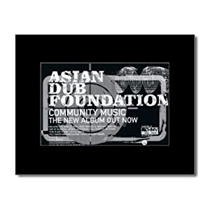 ASIAN DUB FOUNDATION - Community Music Matted Mini Poster - 21x13.5cm