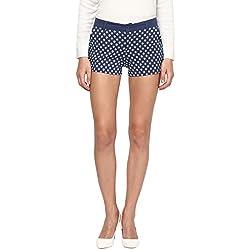 Annapoliss Women's Poly Cotton Shorts (ANWT14_Navy_Medium)