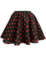 """Adults Polka Dot Skirt Rock n Roll 50's/ 60's Style with neck tie 17 different colours 21"""" length"""