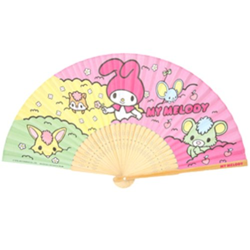 Authentic Sanrio My Melody Handheld Folding Paper Hand Fan