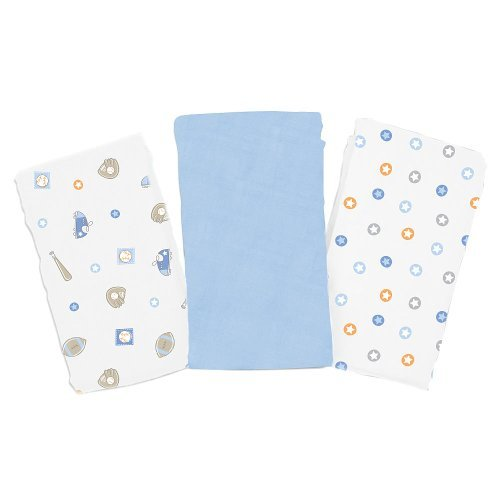 Summer Infant SwaddleMe 3 Pack Cloud Blankets - Tiny Athlete - 1