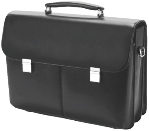 Dicota 15.4-17 inch Executive Style Leather Case - Black