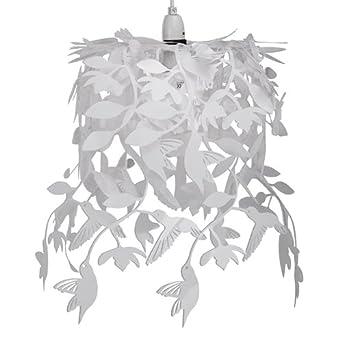 Alpha Hummingbird Pendant Shade, White
