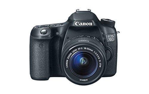 Canon EOS 70D 20.2MP Digital SLR Camera (Black) with EF-S 18-55mm IS STM Kit Lens