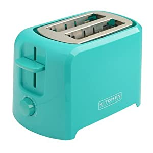 Kitchen selectives cool touch 2 slice toaster - Teal kitchen appliances ...
