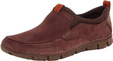 Rockport Men's RocSports Lite 2 Moc Slip-On,Dark Brown Nubuck,6.5 W US