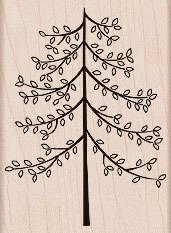 Giving Tree Wood Mounted Rubber Stamp (H5272)