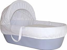 Shnuggle Basket Sky Blue With White Waffle Dressings