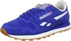 Reebok CL LTHR VINTAGE J97407 - Zapatillas de deporte de cuero para hombre, color azul, talla 44