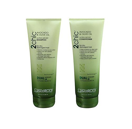 Giovanni 2chic Avocado & Olive Oil Shampoo & Conditioner Set - 8.5oz (Giovanni Avocado Conditioner compare prices)