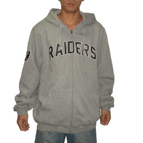 NFL Oakland Raiders Mens Heavy Weight Warm Zip-Up Hoodie / Sweatshirt Jacket (Size: XXL)