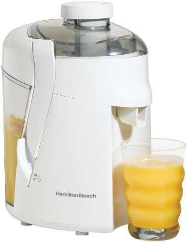 New Shop Hamilton Beach Health Smart Fruit/Vegetable Juice Extractor Juicer+Recipes White