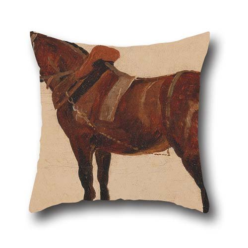 Oil Painting Thomas Sidney Cooper - Study Of A Working Horse Pillow Shams 20 X 20 Inch / 50 By 50 Cm Best Choice For Study Room,bar,floor,boys,kids Girls,car Seat With Twin Sides