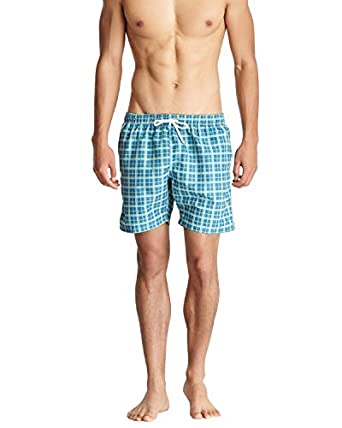 Bottoms Out Men's Swim Board Shorts -Green - Small
