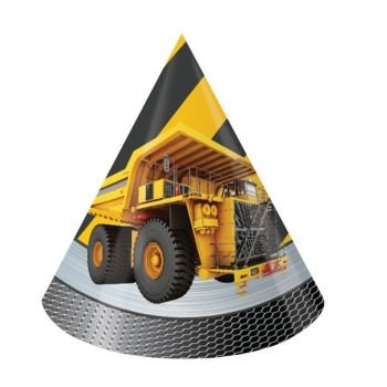 Construction Zone Cone Hats (8 ct) - 1