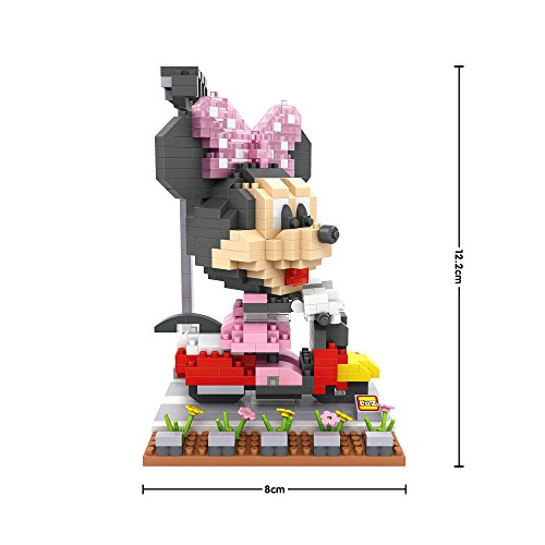 Funny Disney Family - Driver Minnie - LOZ NanoBlocks Micro Diamond DIY Educational Toys