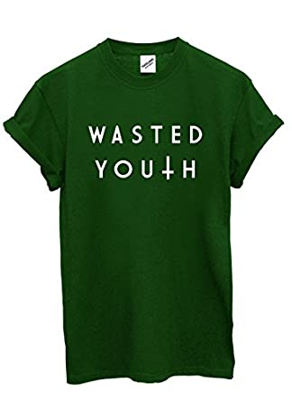 Wasted Youth Inverted Cross T Shirt (Medium, Forest)