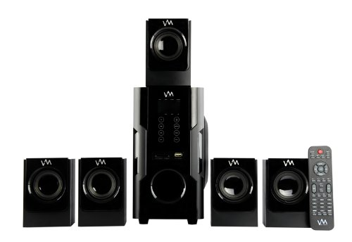 VM AUDIO EXMS520T 5.1 500W Home Multi Media Surround Sound Speakers System USB
