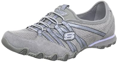 Skechers  Bikers Hot-Ticket Trainers Womens  Gray Grau (GYLB) Size: 2.5 (35 EU)