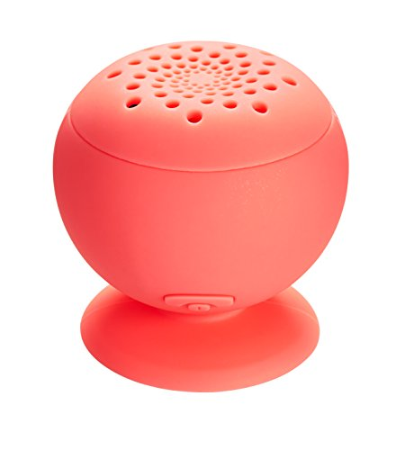 Mixbin Wireless Bluetooth Speaker With Suction Cup (Red)