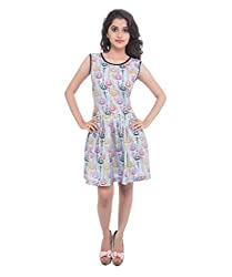 Lal Chhadi Women's Cotton Dress (KLSD010-S _Multi-Coloured_Small)