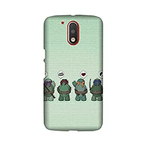 Moto G Play Perfect fit Matte finishing Ninja Turtles TV series Mobile Backcover designed by Abaci(Multicolor)