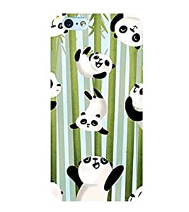 printtech Playing Falling Panda Back Case Cover for Apple iPhone 6