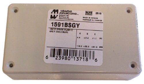 """Hammond 1591Bsgy Grey Abs Plastic Project Box -- Inches (4.4"""" X 2.4"""" X 1.1"""") Mm (112Mm X 62Mm X 27Mm)"""