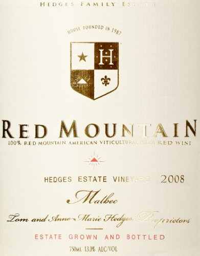 2008 Hedges Family Estate Single Vineyard Limited Malbec 750 Ml