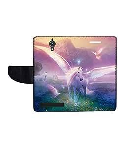 KolorEdge Printed Flip Cover For Asus Zenfone C -Multicolor (47KeMLogo11294ZenC)