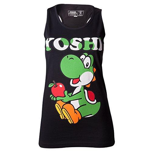Nintendo Yoshi Apple Top donna nero S