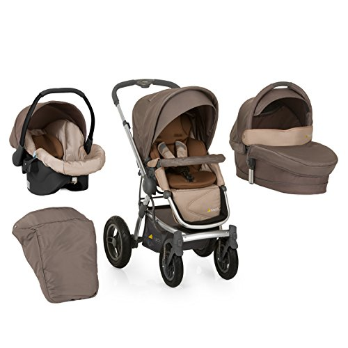 400036 King Air Trio Kinderwagen Set inklusive Beindecke, Sitzauflage, Wanne, Zero Plus Comfort
