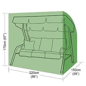 gardman premium polyester schutzh llen abdeckplane f r hollywoodschaukel 3 sitzer. Black Bedroom Furniture Sets. Home Design Ideas