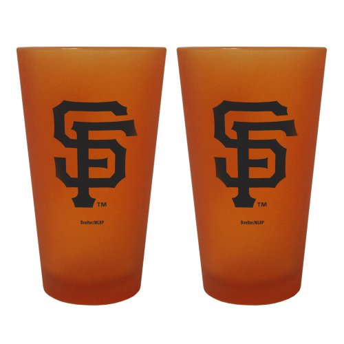 Mlb San Francisco Giants 2 Pack Colored Frosted Pints front-538451